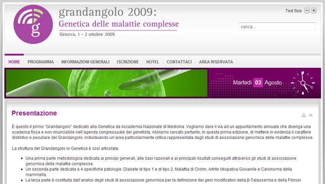 Grandangolo 2009: Genetica Umana