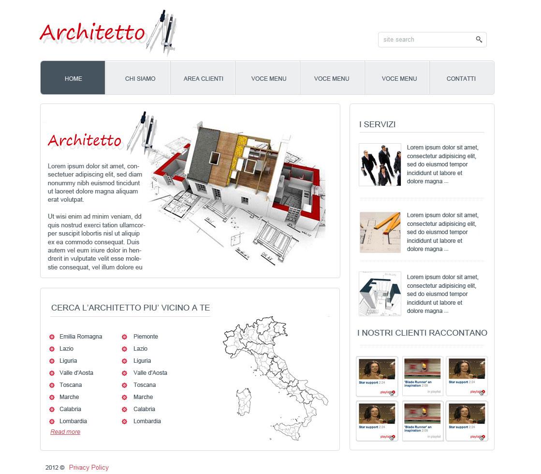 Sito Architetti – Bozza Grafica