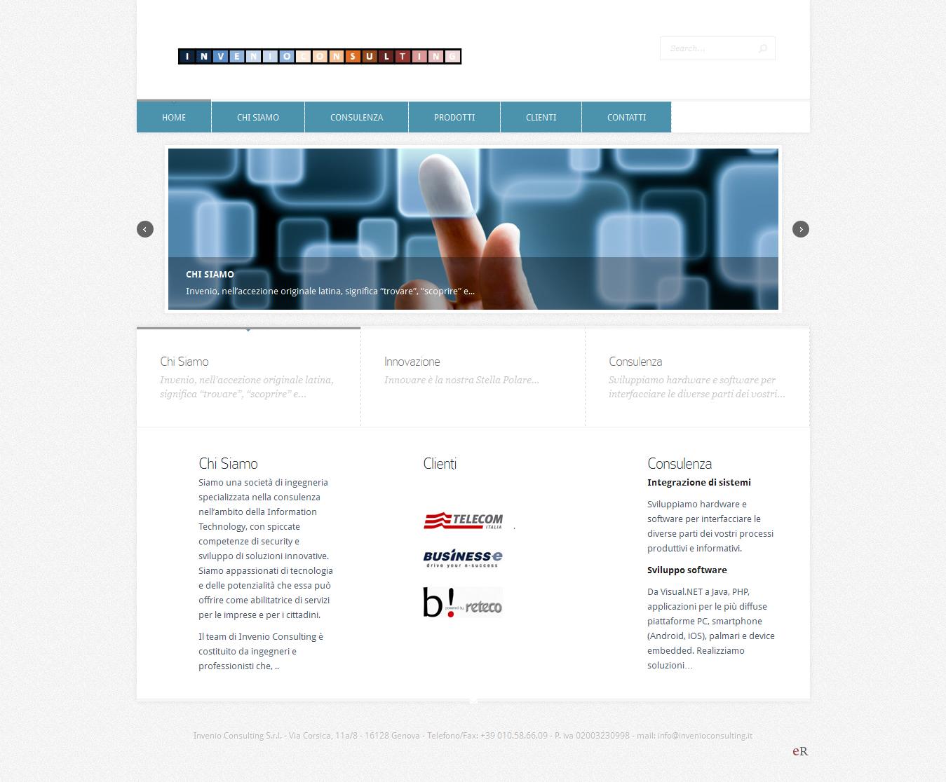 Società di ingegneria Genova – Sito Internet