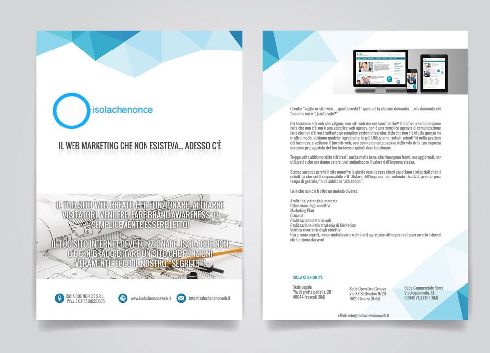 Brochure per Isola