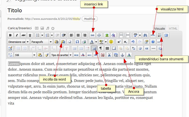 TinyMCE Advanced – Editor e Ancore in WordPress